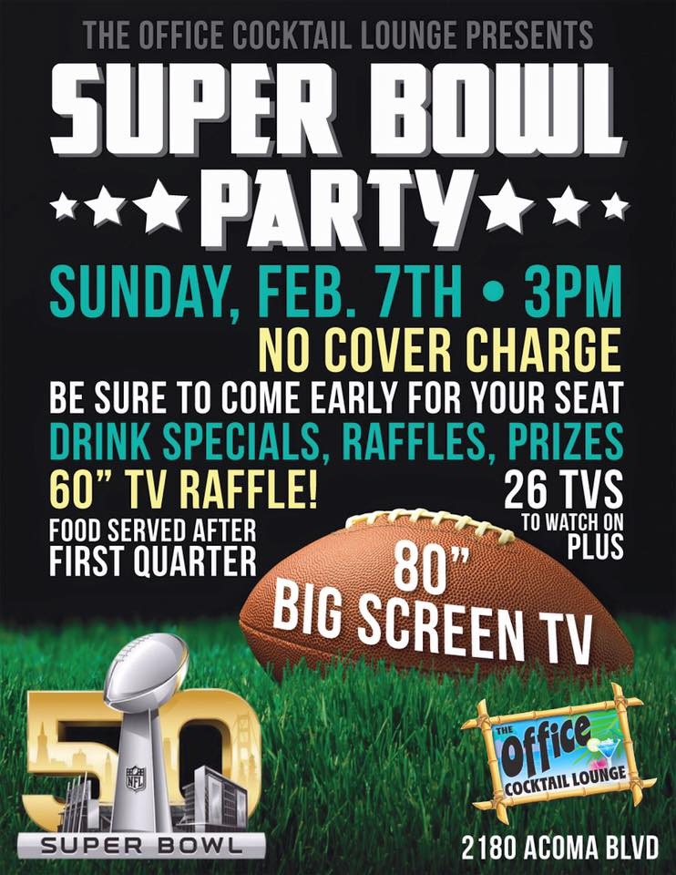 super bowl party poster